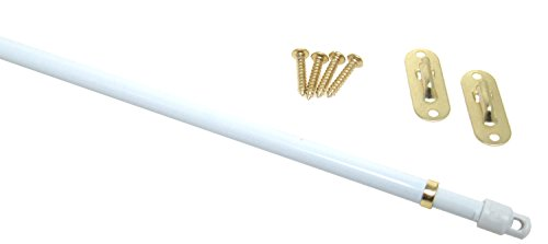 """SASH CURTAIN ROD FOR DOOR PANELS #830 - 20"""" TO 36"""""""