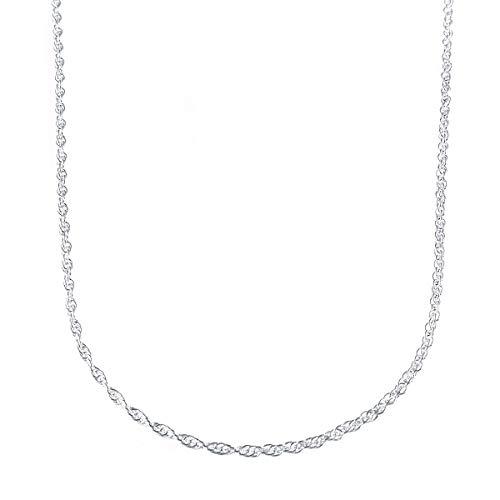 ネックレス メンズ ブランド シルバー 925 シンプル blackdia シルバー ロープ チェーン ネックレス 幅1.5mm 長さ60cm