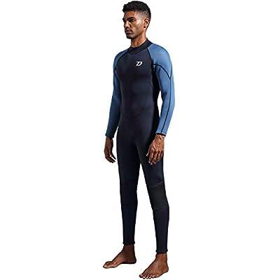 Dark Lightning Premium CR Neoprene Wetsuit, 2018 Mens Long Sleeves Scuba Diving Thermal Wet Suit in 3/3mm, Full Suit (Men's Medium)