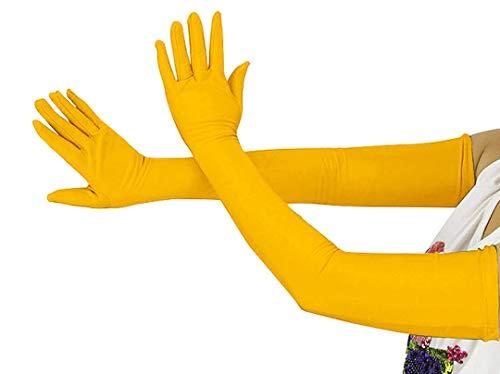 Guantes largos elásticos para disfraz de Halloween de 20.5 pulgadas para niñas y niños