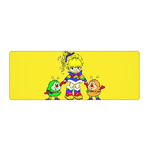 Rainbow Brite Large Extended Gaming Mouse Pad Mat, Stitched Edges, Ultra Thick 3 Mm, Wide & Long Mousepad 11.8x31.5 in