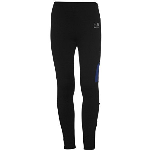 Karrimor Niño Mallas Pantalones Ajustados De Running Deporte Negro/Azul M (9-10 años)