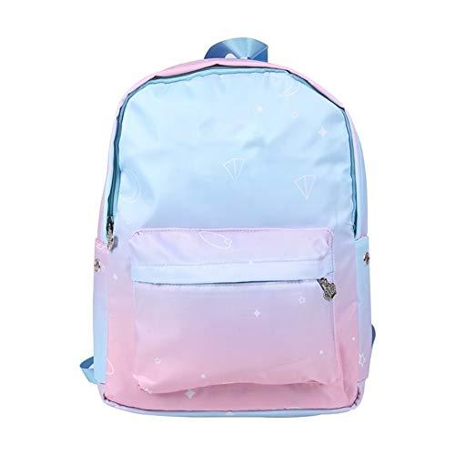 L-sister Mochila Niños Schoolbag Girls Primaria Escuela Schoolbag Schoolbag Impresión Mochila Viaje Chica Estilo único (Color : Pink, Size : XL)