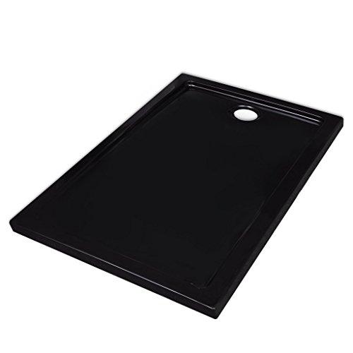Festnight Plato de Ducha Rectangular de ABS Color Negro 70 x 100 cm
