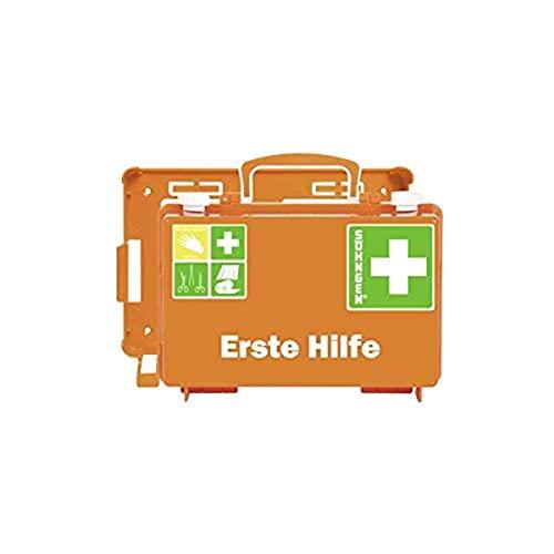 Söhngen Erste-Hilfe-Koffer QUICK-CD (mit Füllung Standard DIN 13157, mit Wandhalterung, Koffer plombierbar) orange, 0301125