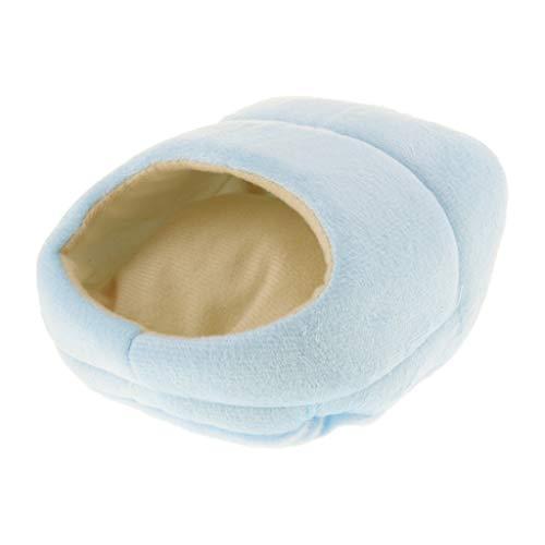 Kuschelhöhle Warm Winter Schlafsack Bett Haus für Hamster, Meerschweinchen, Frettchen, Eichhörnchen, Ratte, usw. - Blau