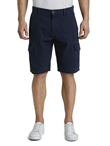 TOM TAILOR Herren Hosen & Chino Morris Relaxed Bermuda Cargo-Shorts Sky Captain Blue,34,10668,6000