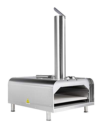 """small FREMONT 12 """"Portable Pizza Oven Outdoor Pizza Pellet Machine   Stainless Barrel Shape"""