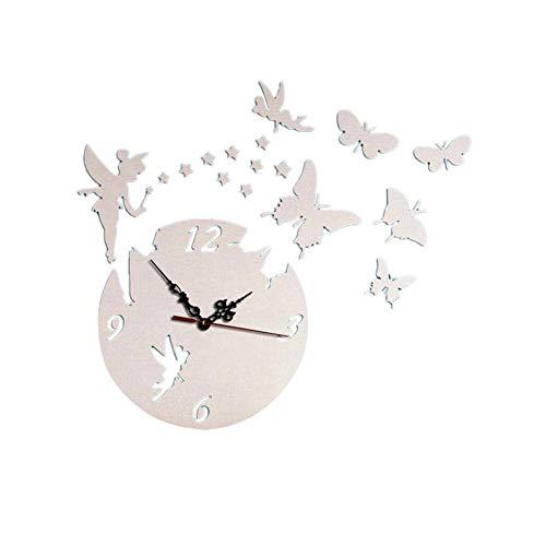 SUPERLOVE Orologio Specchio Decorazioni da Parete, Adesivi Murali Specchio 3D Moda Stile Moderno Farfalla DIY Orologio da Parete Adesivo da Parete per Soggiorno Camera da letto Decorazioni per la casa