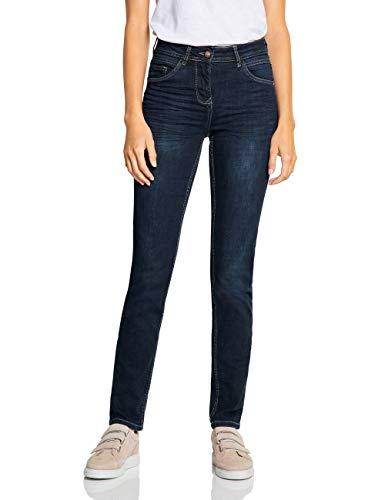 Cecil Damen 372538 Toronto Fit Slim Jeans, Blau (Dark Blue wash 10315), 27W / 32L