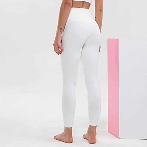 Mujer Cintura Alta Yoga Polainas Control de Barriga Pantalones de Yoga Estirarse Deportes Corriendo Ejercicio Gimnasio Polainas (Color : F, Size : X-Large)