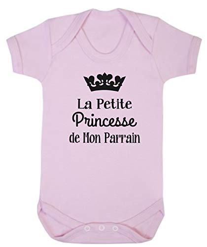 Click My Clobber, Bébé Body, La Petite Princesse De Mon Parrain, Rose, 6-12M