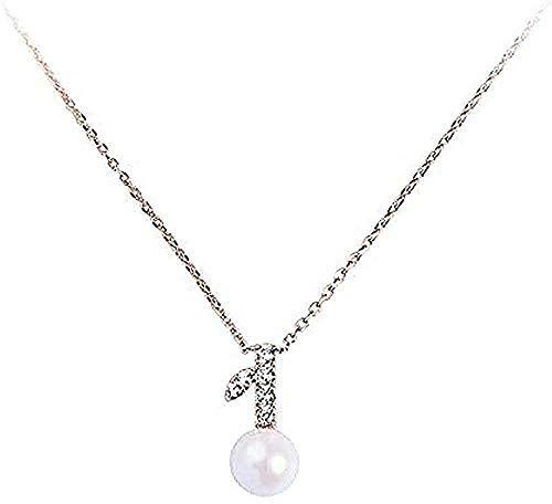 Yiffshunl Collar Mujer Estilo Simple Collar Mujer Capa Perla Colgante
