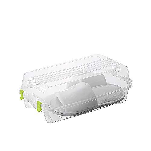 Generic Armario organizador de zapatos – Caja de almacenamiento de plástico PP transparente para zapatos de plástico antioxidantes de plástico para organizar zapatos que ahorran espacio
