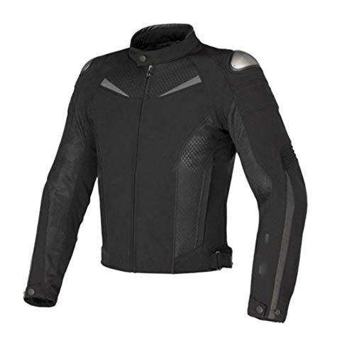 Chaqueta Transpirable de Motocicletas para Hombres, Chaqueta de Carreras de automóviles Moto Moto de Verano, Equipo de protección de la Motocicleta Black XL