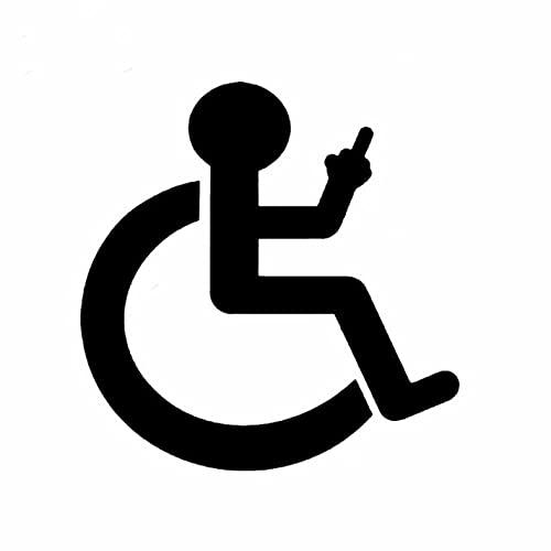 N\C 3 Stück Autoaufkleber 12.9CM * 13.2CM Cartoon Rollstuhl Vinyl Aufkleber für Snowboard Motorrad Fahrrad Telefon Computer DIY Auto Fenster Wandtattoo