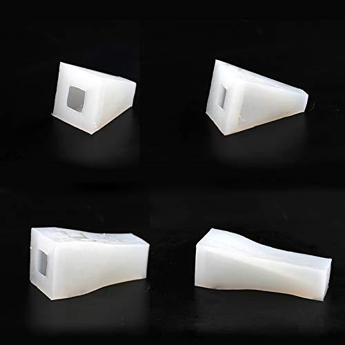 Silicone Mold for Jewelry Stand 4PCS Handmade Concrete Ring Display Mould Cement Wedding Decoration Tool
