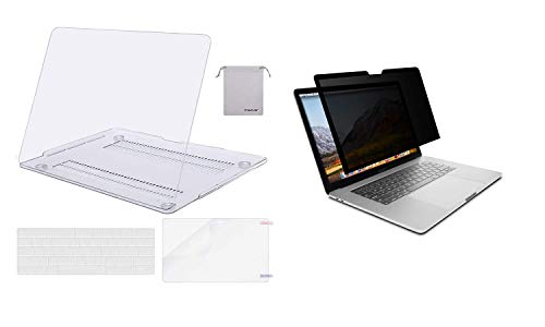 MOSISO Hard Shell Compatible with MacBook Pro 13 Case 2019-2016 (A2159 A1989 A1706 A1708) & Privacy Film Compatible with 2020-2010 MacBook Air, 2020-2016 MacBook Pro 13/2015-2012 MacBook Pro Retina