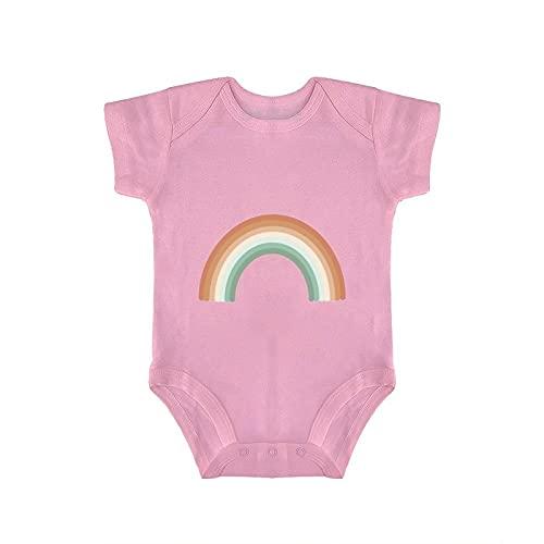 DKISEE Mono de bebé rosa arco iris mameluco infantil 12-18 meses, otycr02h13o6
