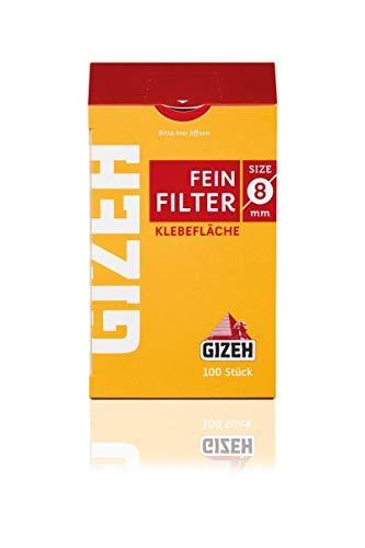 Gizeh 415925015 Feinfilter, 10 Beutel x 100 Filter, Durchmesser 8 mm, Länge 15 mm, Small, Gelb