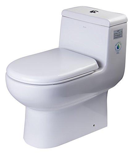 EAGO TB351 Dual Flush Eco-Friendly Ceramic Toilet, White,...