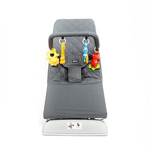 Belltop - Hamaca bebé con Movimiento - Silla balancín con Juguetes Incluidos - 2 Posiciones Diferentes y fácil de Transportar