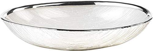 Argenesi Granito Ciotola in Vetro 18x 12cm–Perla Colore Bianco, Taglia Unica
