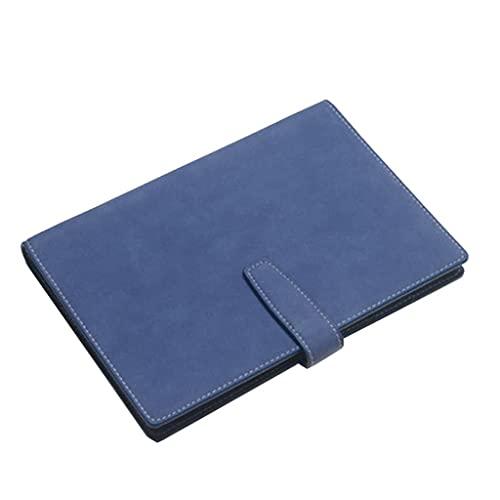 LWLEI Cuaderno Simple Moda Retro Leaf-Hoja Diario Reunión Grabar Libro Travel Travel College Hombres y Mujeres Suministros de Estudio (A5) (Color: Marrón + Caja de Regalo) Song (Color : Blue)