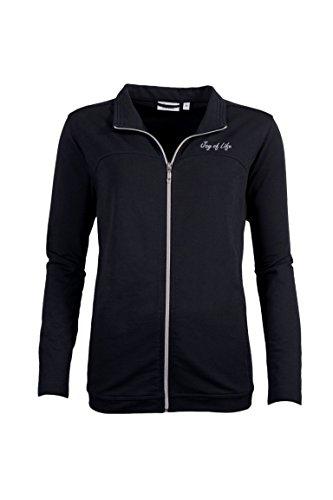 hajo Betz Damen Freizeitjacke Sweatjacke Klima Komfort Farbe: schwarz Größen: 38-48 Größe 44