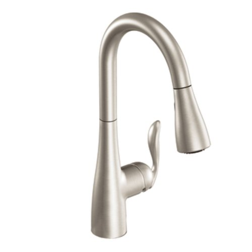 Moen 7594SRS Arbor One Handle Pulldown Kitchen Faucet Featuring Power Boost and Reflex, 3/8 Inch,...