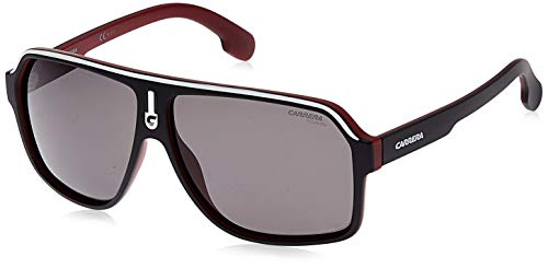 Carrera Men's CA1001/S Polarized Pilot Sunglasses, MATTE BLACK RED, 62 mm