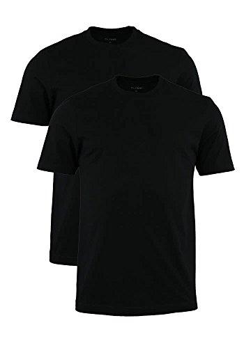 Herren T-Shirt - Doppelpack O-Neck, uni schwarz, XL