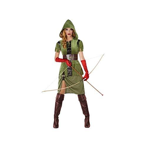 Atosa-61426 Atosa-61426-Disfraz Arquera-Adulto Mujer, Color verde, M a L (61426 , color/modelo surtido