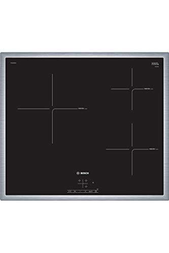 Bosch Electroménager 1 Table Induction 60 cm 3F T Cadre Inox Noir