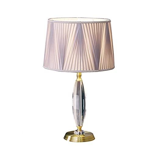 Lámpara de Mesa Luz moderna Luz de mesa de noche Lámpara de mesa de cristal simple Lámpara de mesita de noche Dormitorio Estudiar Sala de estar Lámpara Decoración Lámpara de noche Lámpara de Cabecera