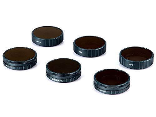Fstop Labs Lens Filters for DJI OSMO Action Camera Lens Set, Multi Coated Filters Pack Accessories (6 Pack) ND4, ND8, ND16, ND4/CPL, ND8/CPL, ND16/CPL