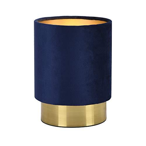lux.pro Tischleuchte 'Welsum' Blau 1xE14 Tischlampe Lampe Leuchte Nachttischlampe Leselampe