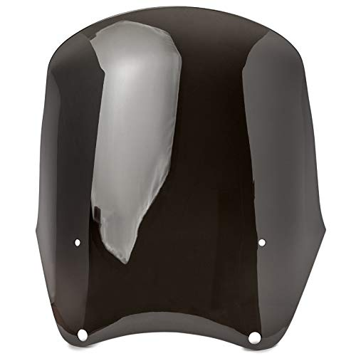 Krator Replacement Smoke Windscreen Tall Fairing Windshield Club Style Kit Compatible with Harley-Davidson Dyna, Super Glide T-Sport FXDXT, FXR (PN# JBM-6009-C/JBM-6009-S)