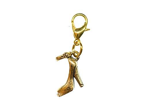 Miniblings Pumps High Heels Charm Damenschuh Schuh golden - Handmade Modeschmuck I Kettenanhänger vergoldet - Bettelanhänger Bettelarmband - Anhänger für Armband