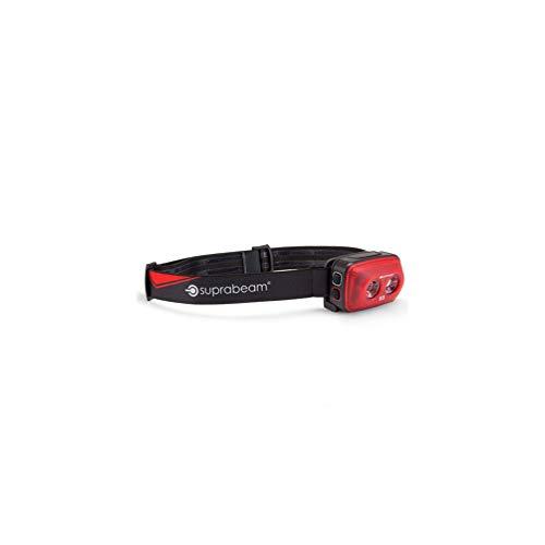 Suprabeam - Lampe frontale à LED noire 200 Lumens - Double énergie et lumière rouge - Portée 70 m - S3 rechargeable - 603.5008 - Suprabeam