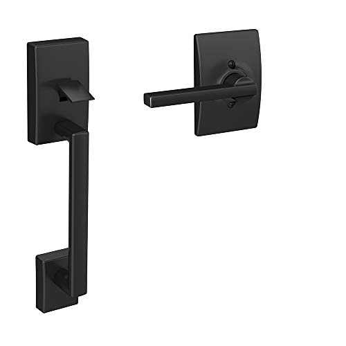 Schlage FE285 622 LAT CEN – manubrio inferior de media manija, color negro mate