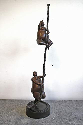 H. Packmor GmbH Bronzeskulptur Zwei Tänzerinnen Ballerina Dekoration modern Bronzefigur Braun