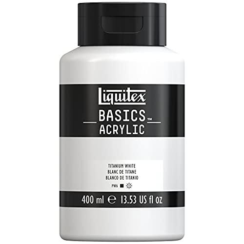 Liquitex Basics Acrylic Bote De Pintura Acrílica, Blanco de Titanio, 400 ml (Paquete de 1), 400