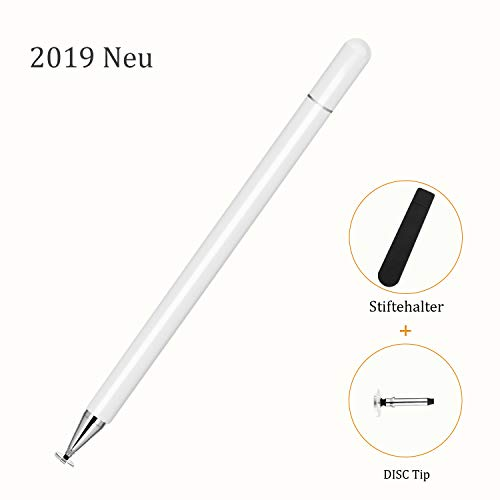 kimcrown EleganterStift Disc Eingabestift, Touchscreen Stift mit Disc-Spitze Pencil kompatibel für iPhone Handy, iPad, Samsung Galaxy, Huawei Smarttelefone und Android Tablets