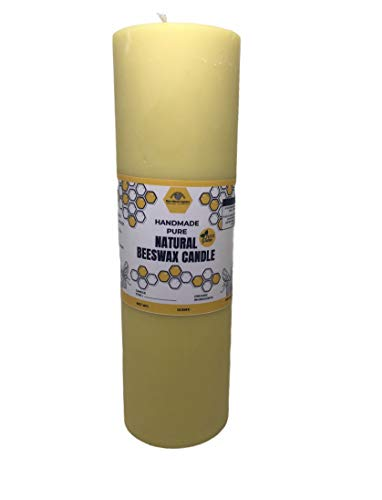 BearNaturalOrganics Pure Natural Beeswax Pillar Candle 2 inch x 6 inch
