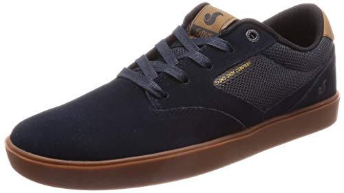 DVS Pressure Sc+ Chaussures de skate pour homme, bleu (Nvy Black Gum Suede), 43 EU