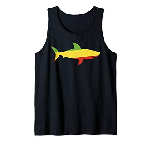 Reggae Shark Tshirt Funny Rasta Shirt Sea Animal Gifts Tank Top