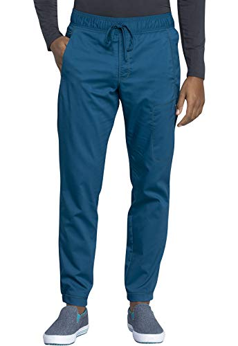 CHEROKEE Workwear WW Revolution Men's Men's Natural Rise Jogger, WW012, M, Caribbean Blue