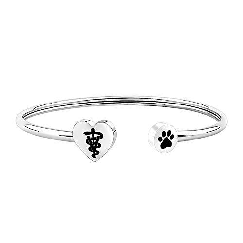 AKTAP Veterinarian Bracelet Jewelry for Vet Student Vet Tech 2020 Graduation Gift for Animal Lovers Pet Owner Gift (Veterinarian Bracelet)