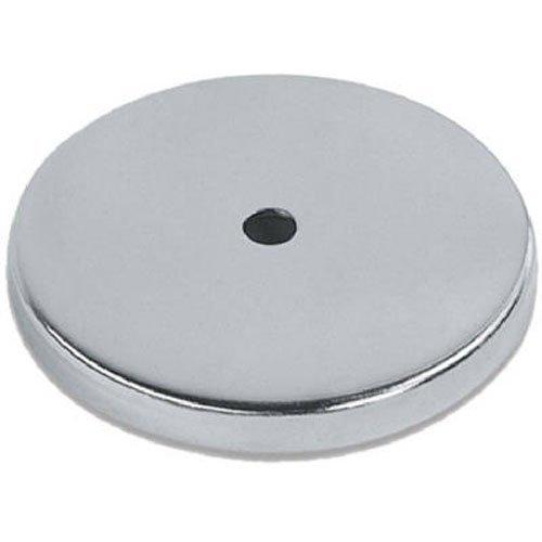 Runder Magnet mit Chromblende 81 x 10 mm bis zu 43 kg Haftkraft Rundmagnet